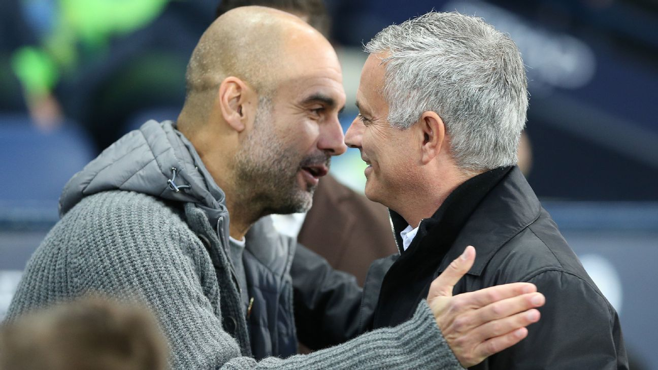 Man City's Guardiola says relationship with Spurs' Mourinho better than before - ESPN