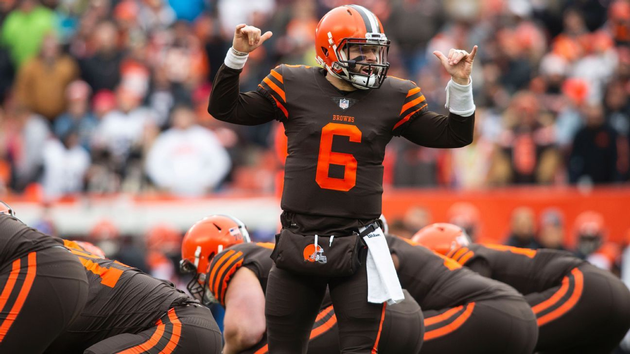 Baker Mayfield appeared to glare toward former coach Hue Jackson on the sidelines for a fair amount of time late in the Cleveland Browns' 26-18 victory over the Cincinnati Bengals on Sunday.