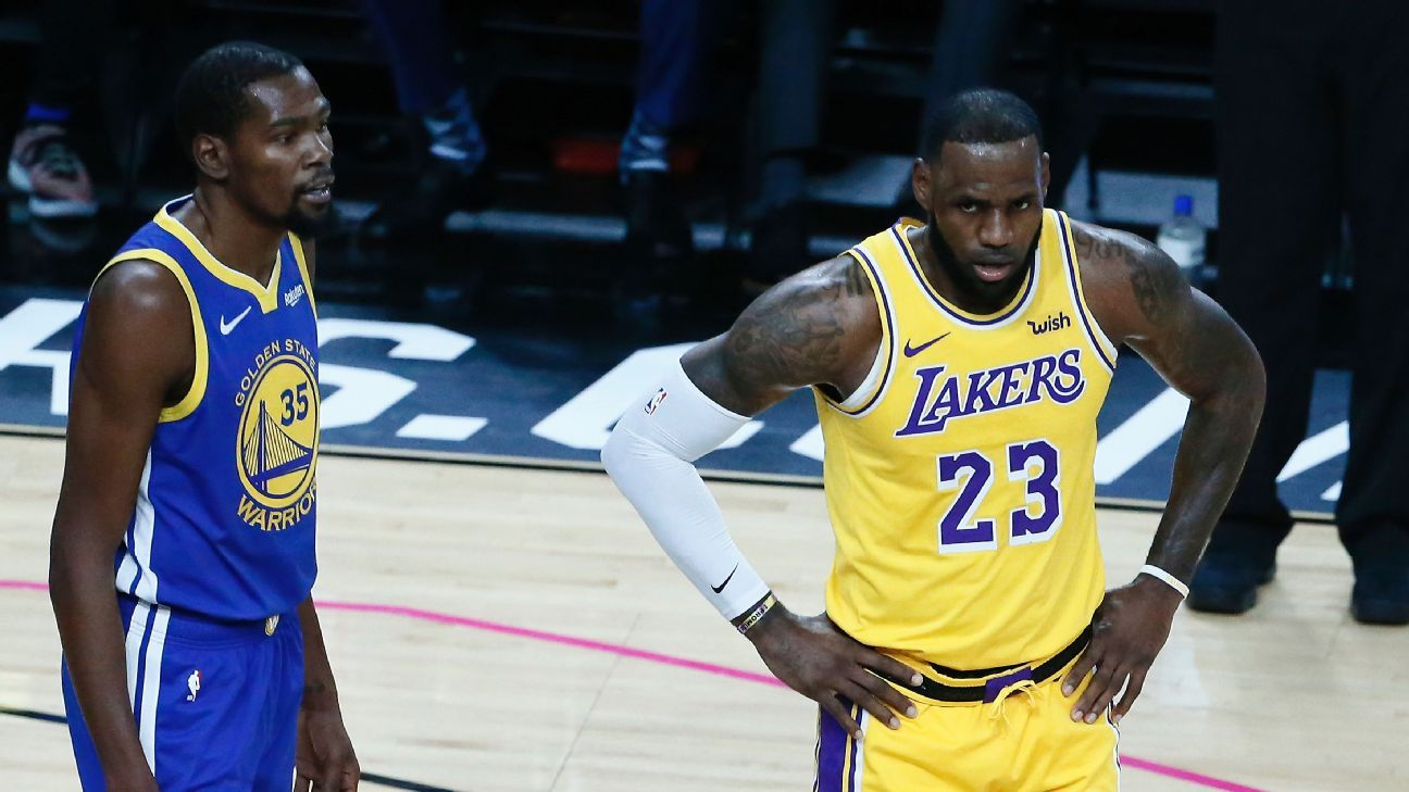 a32495975107 LeBron James discusses Los Angeles Lakers  season and Kevin Durant
