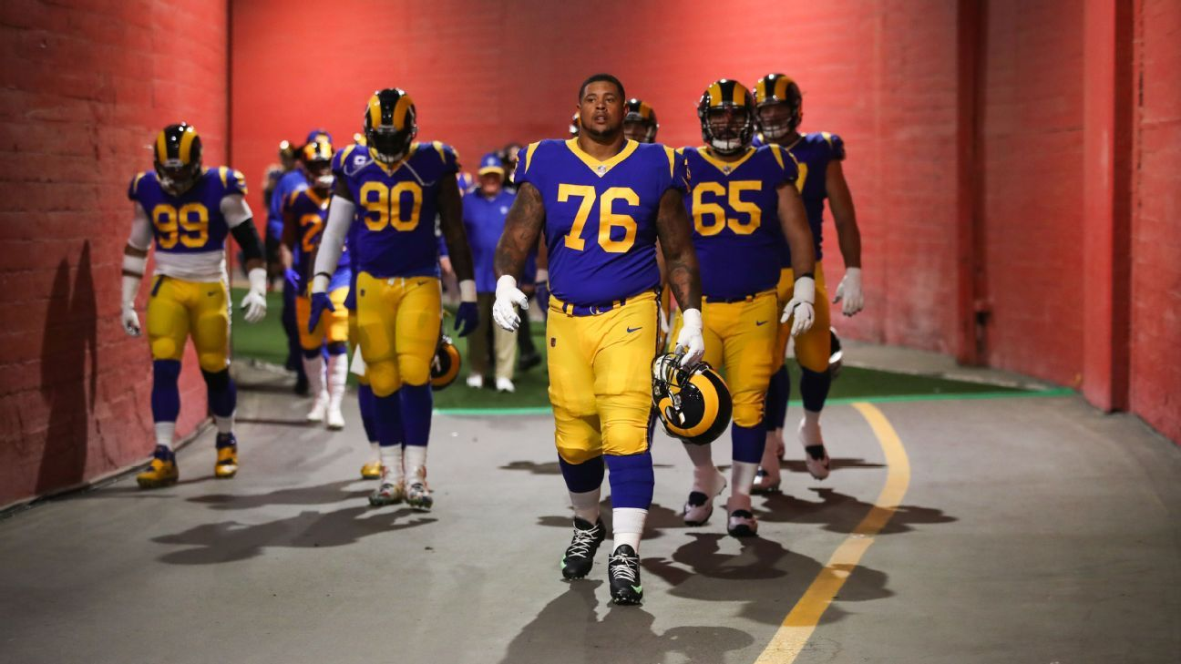 711c024839b Longest-tenured Ram, Rodger Saffold, has seen it all and wants to come back  for more - Los Angeles Rams Blog- ESPN
