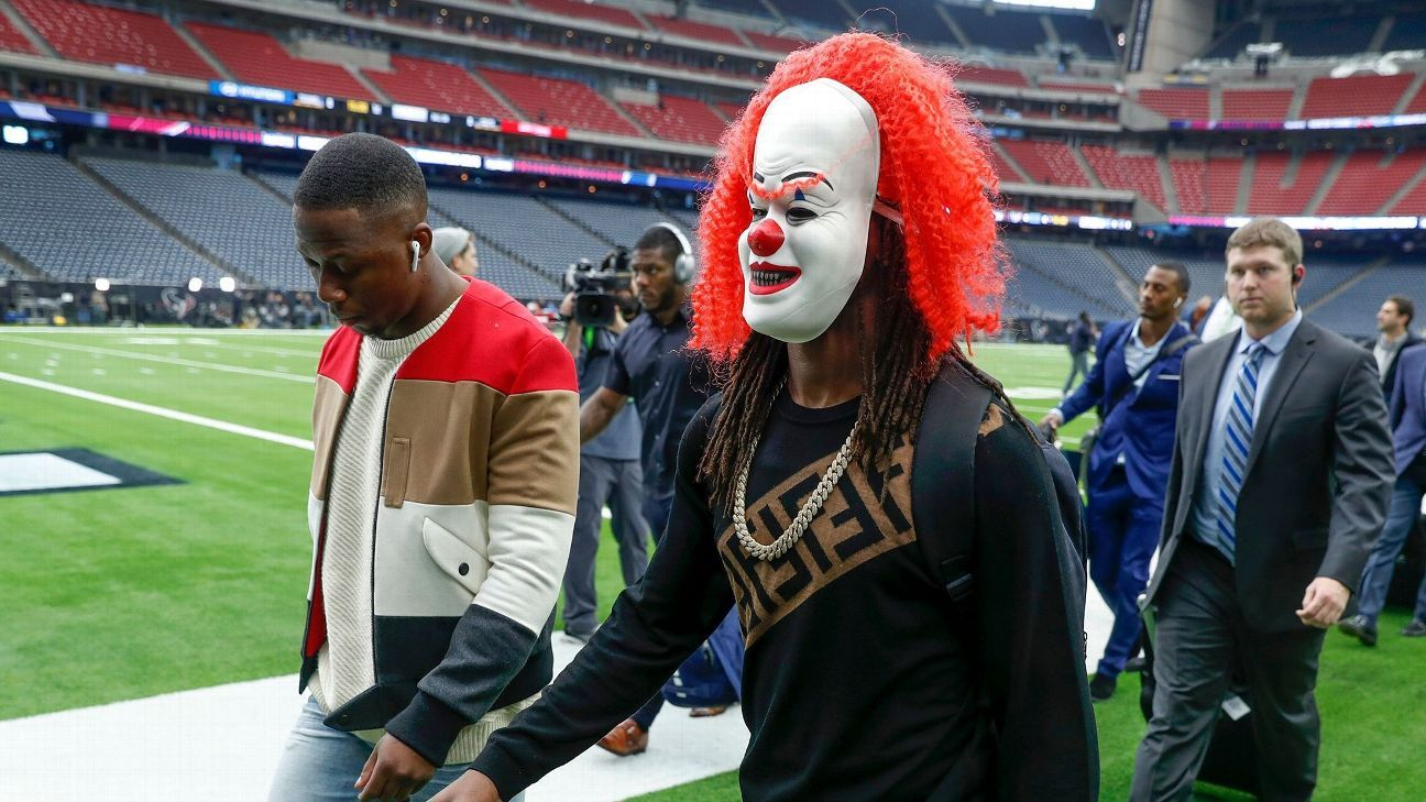 Colts wide receiver T.Y. Hilton said after Saturday's victory that the clown mask he wore into NRG Stadium won't be making the trip with his team to Arrowhead Stadium.