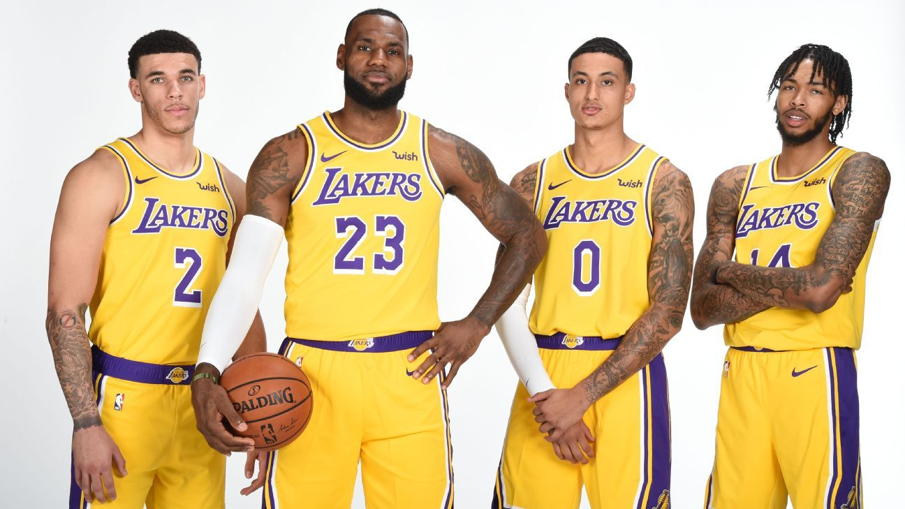 Kyle Kuzma eager to see 'death lineup' from Los Angeles Lakers