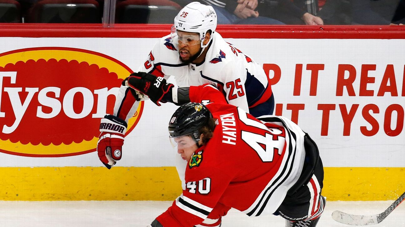 Washington Capitals  Devante Smith-Pelly plays first game in Chicago since  racial taunts last February c741cece5643