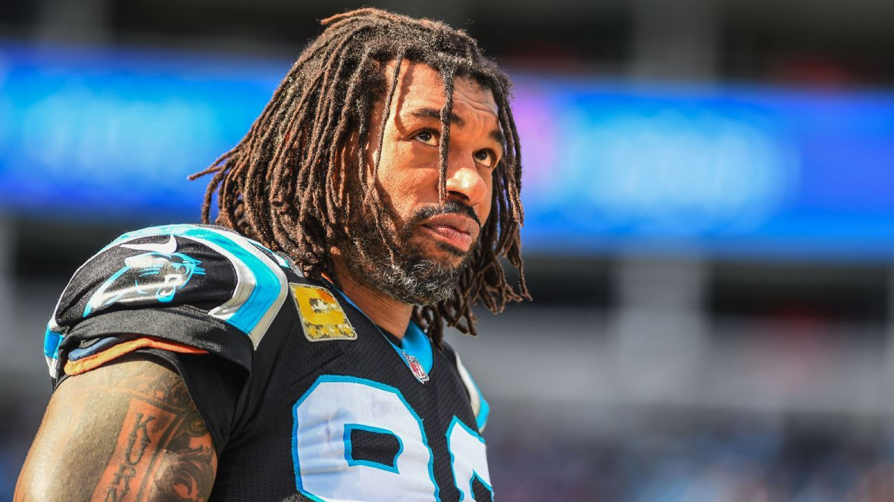 Julius Peppers played 17 seasons in the NFL with the Panthers, Bears and Packers.