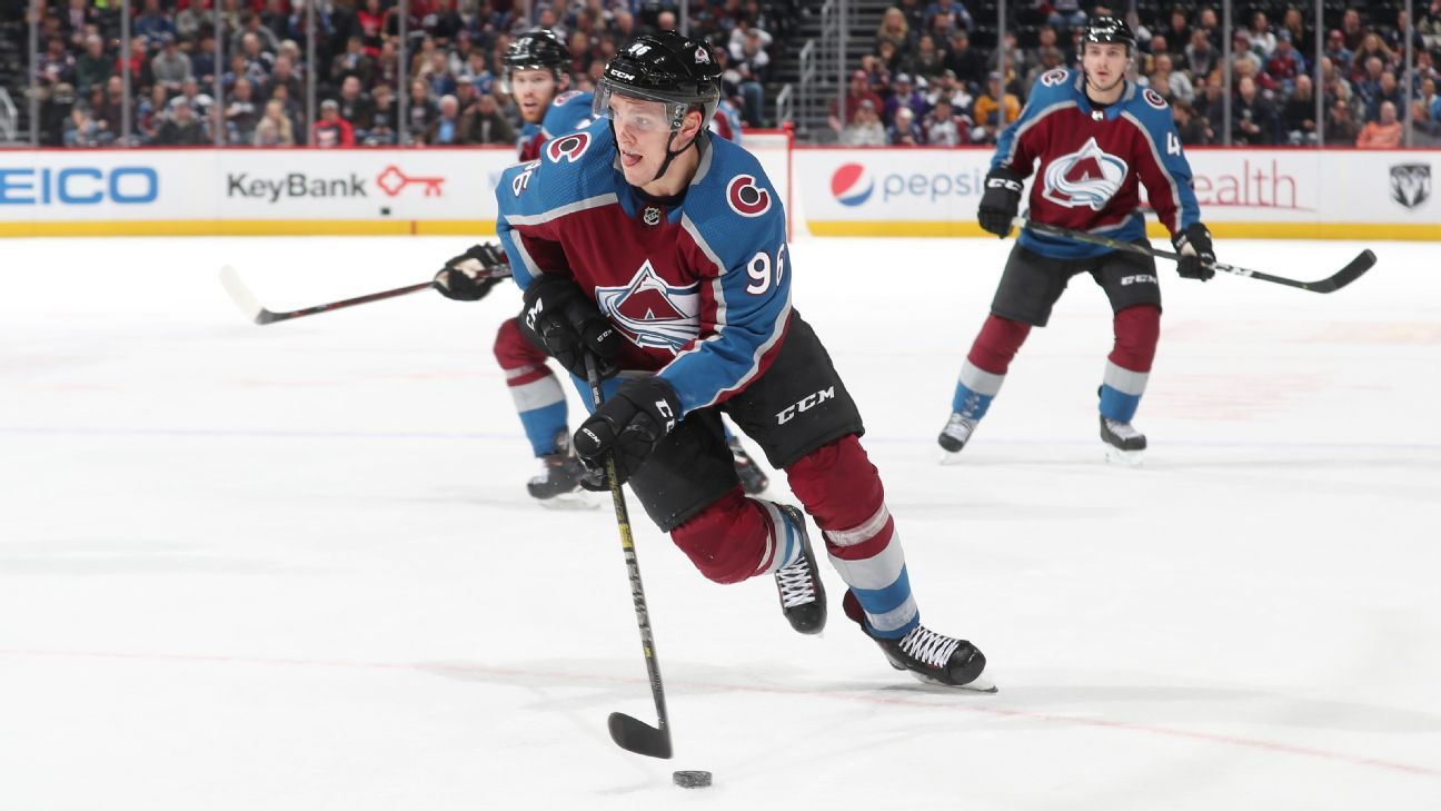 Avs' Mikko Rantanen ruled out with lower body injury
