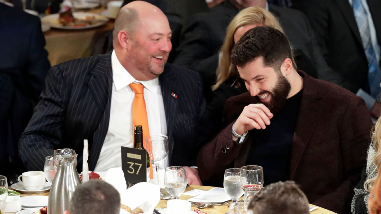 Browns quarterback Baker Mayfield said Wednesday at the Cleveland Sports Awards that losing out on NFL Offensive Rookie of the Year honors to friendly rival Saquon Barkley -- or