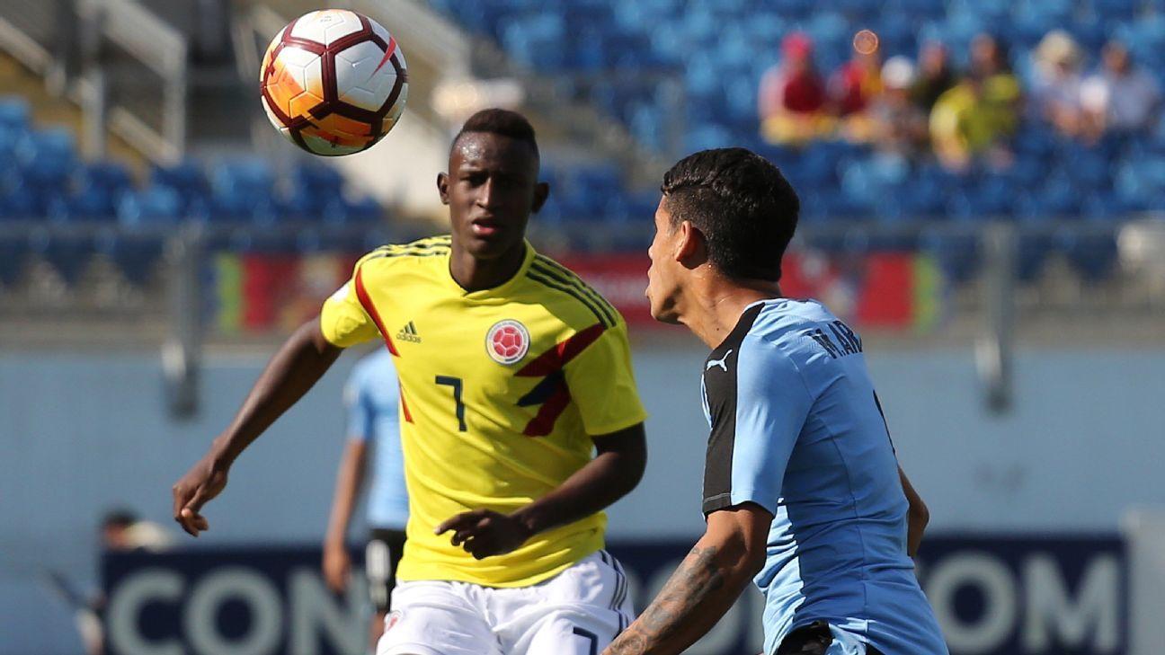 Colombia Sub 20: Colombia Sub 20 Vs. Uruguay Sub 20