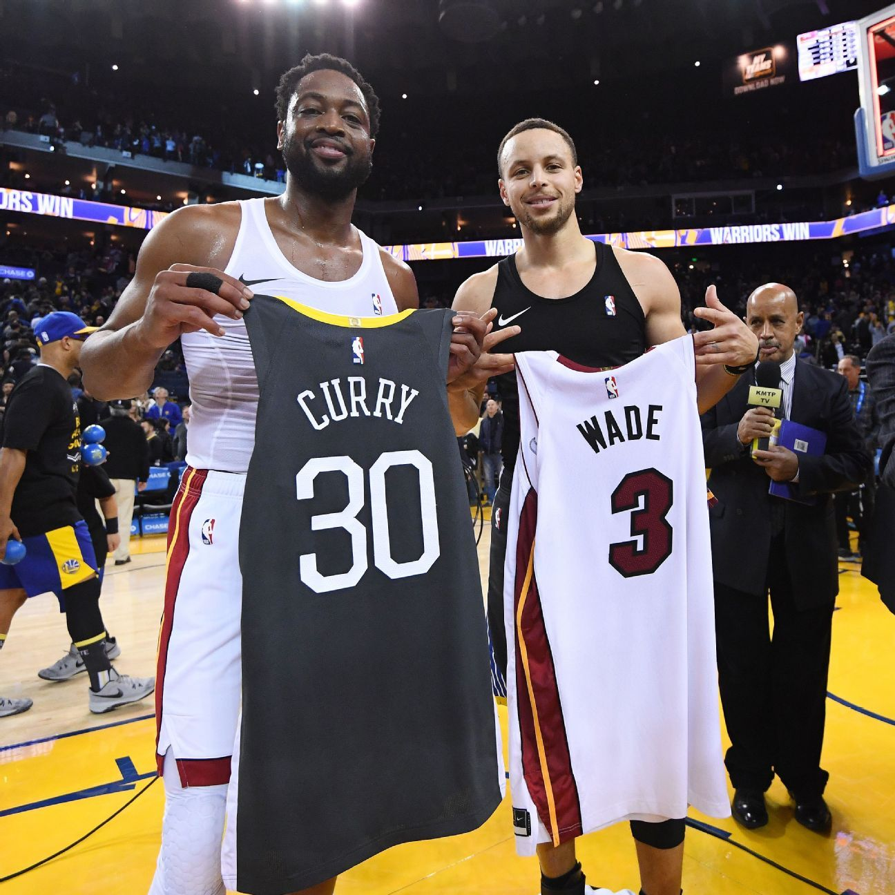 46feebbe5 Steph Curry prods Dwyane Wade --  Are you sure you don t have a couple more  years left