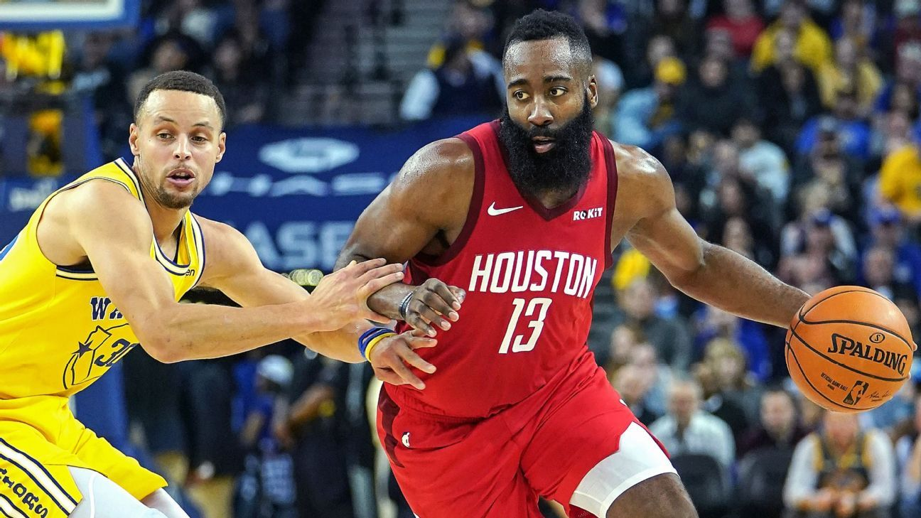 7597c11a1654 How James Harden relentlessly attacks Steph Curry
