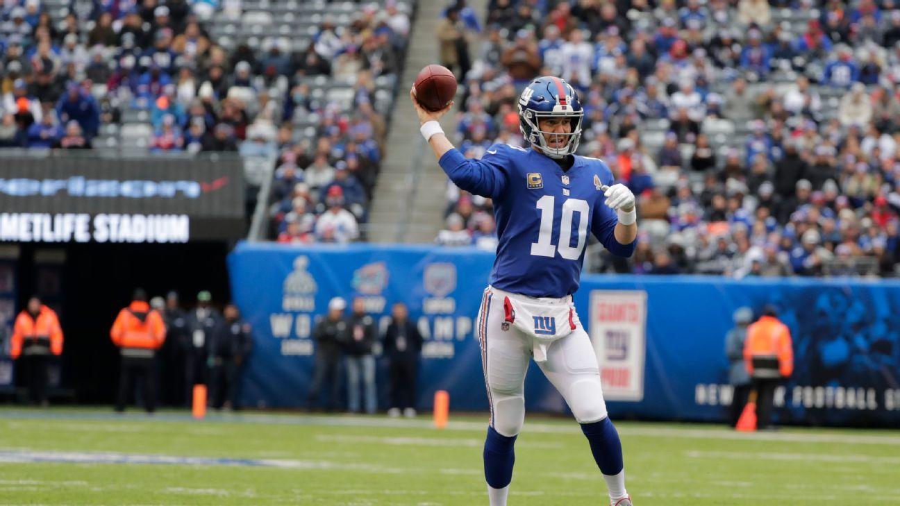 Eli Manning regresará como titular de los New York Giants fc17b8b5b8d