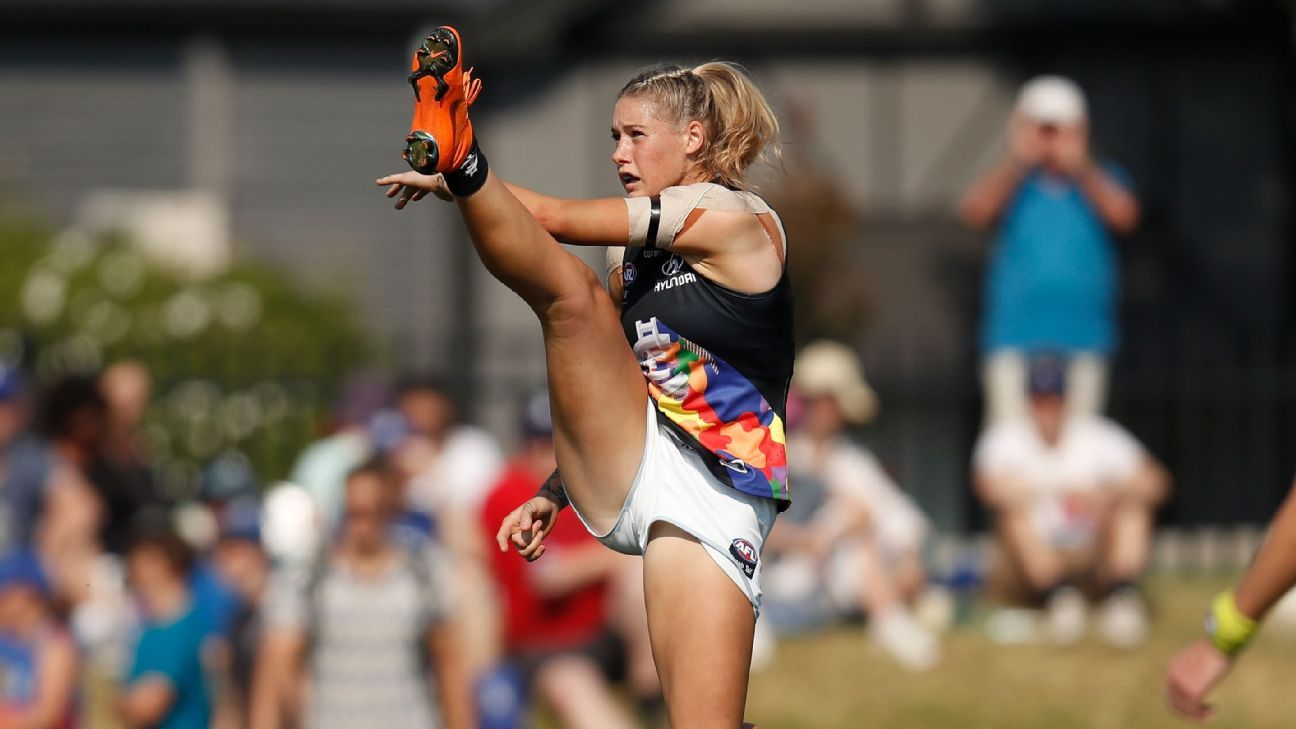 Channel Seven criticised for removing image of AFLW star Tayla Harris