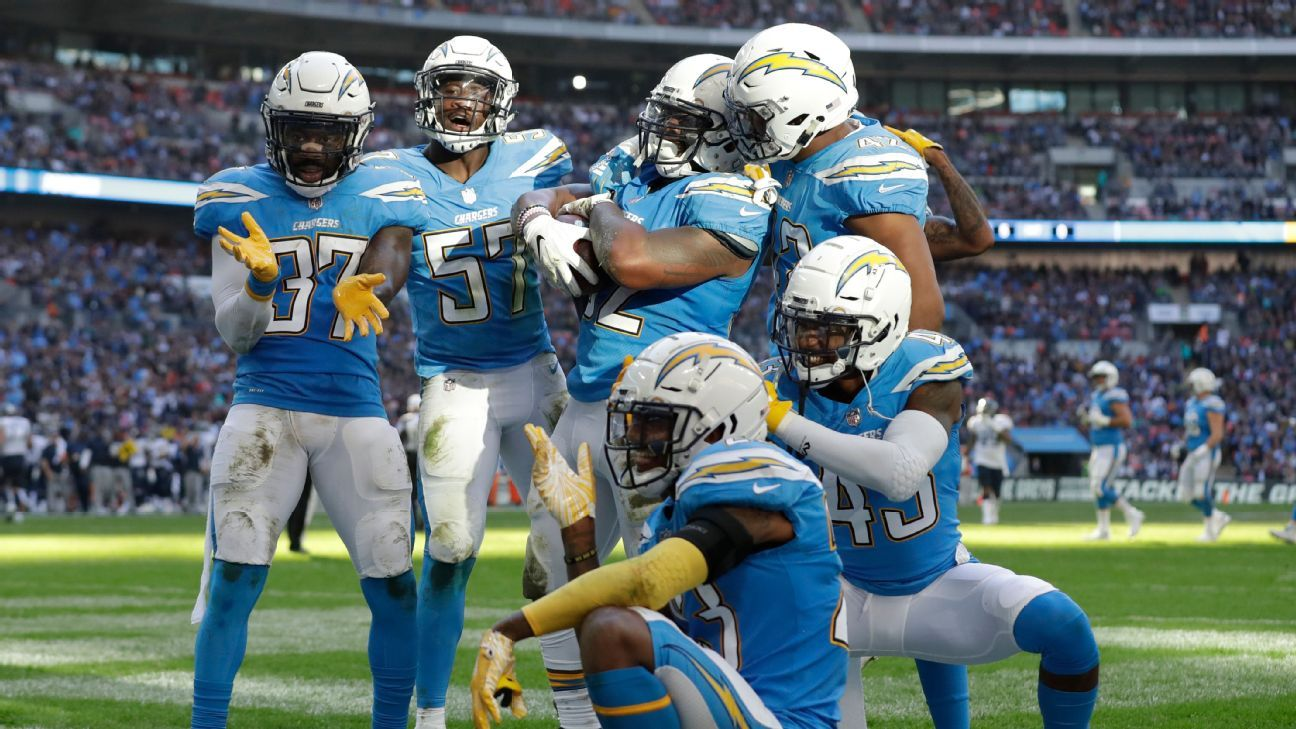 In a nod to their history, the Los Angeles Chargers are switching to the team's iconic powder blue jerseys as their primary home uniform for the 2019-20 season.