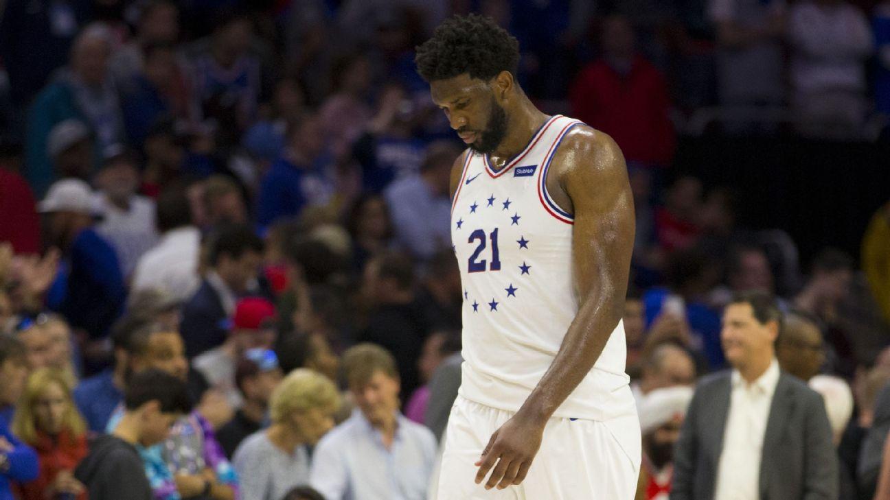 Ailing Embiid rues effort as 76ers fall to Raptors