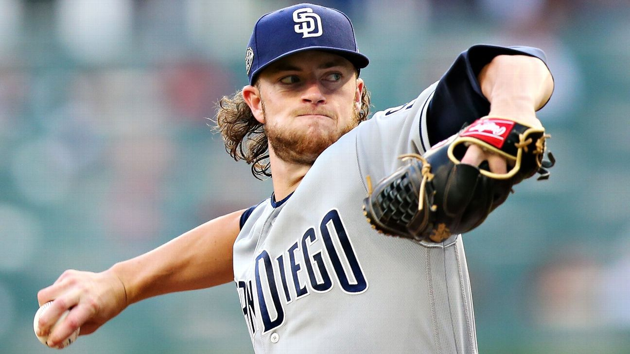 Padres scratch ace Paddack; Quantrill to minors