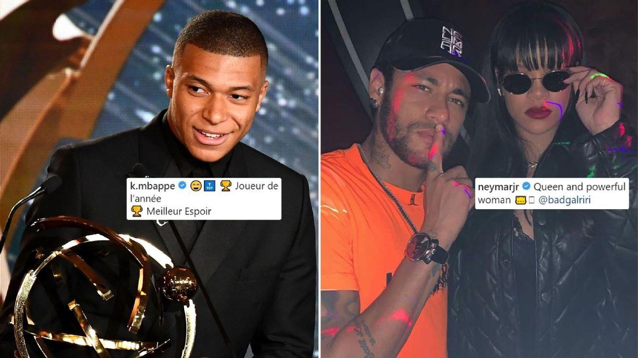 Toe Poke Daily: Neymar skips PSG teammate Mbappe's award wins; spends evening with Rihanna