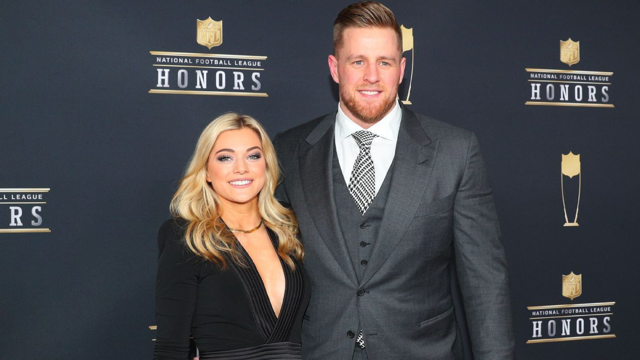 Texans linebacker J.J. Watt announced his engagement to professional soccer player Kealia Ohai on Sunday night.