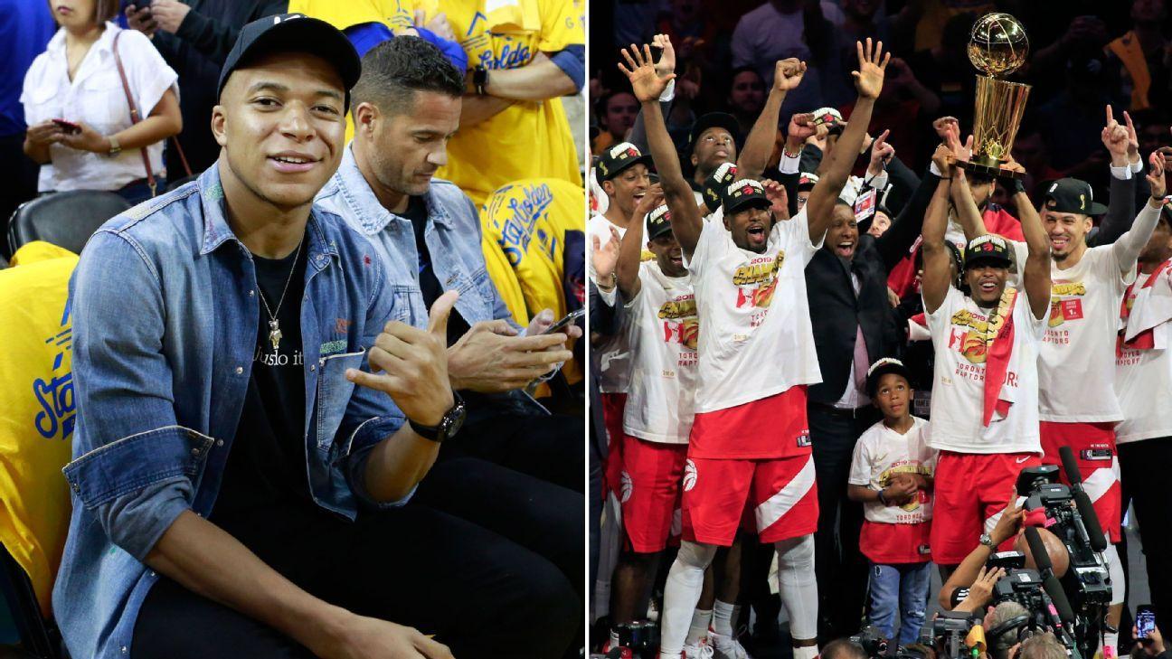 Toe Poke Daily: PSG's Kylian Mbappe courtside as Toronto Raptors win NBA Championship