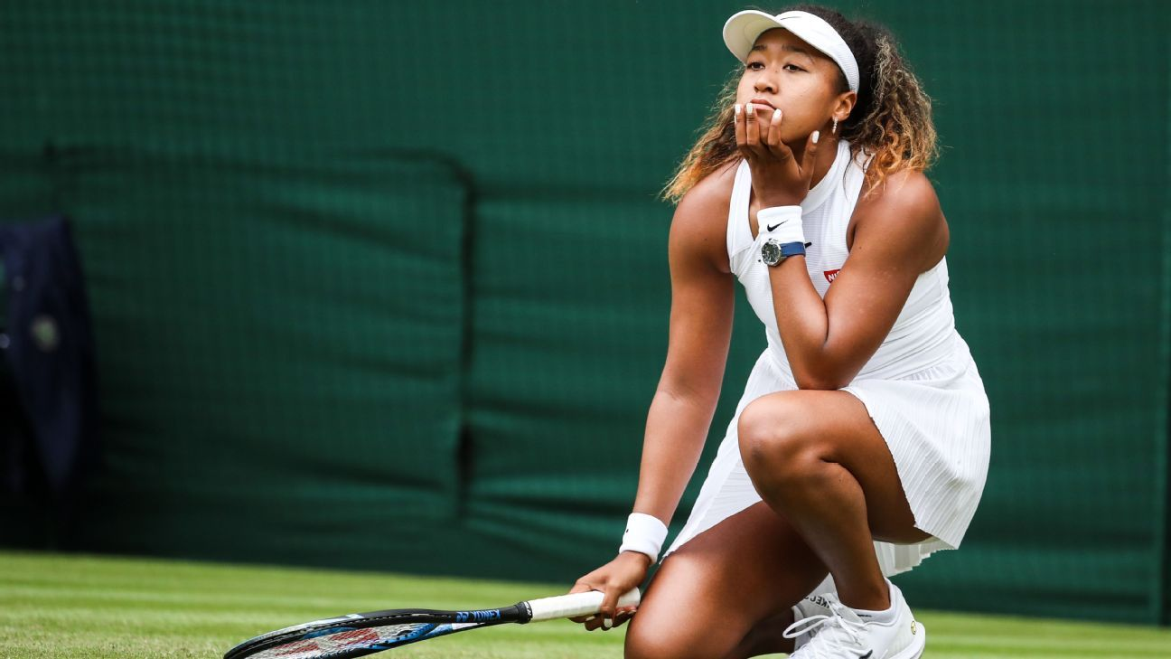 Tearful Osaka struggling to find answers, on and off court