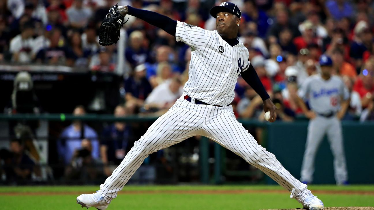 Sources: Aroldis Chapman agrees to contract extension with Yankees