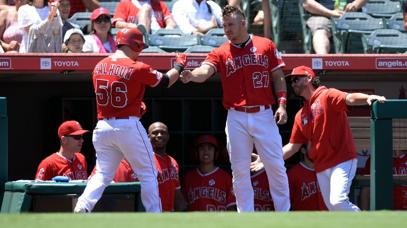 Angels 'playing it safe' with Trout's sore calf – ESPN