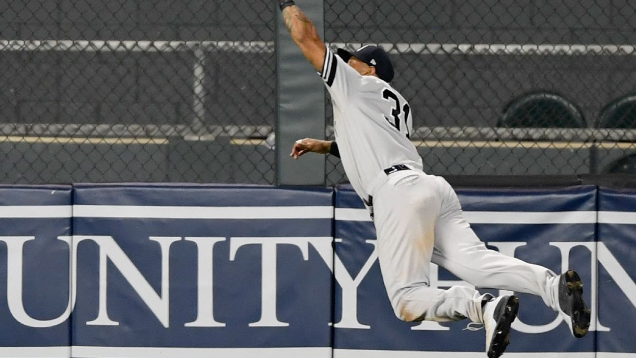 Hicks' grab, Didi's 7 RBIs lead Yanks to wild win