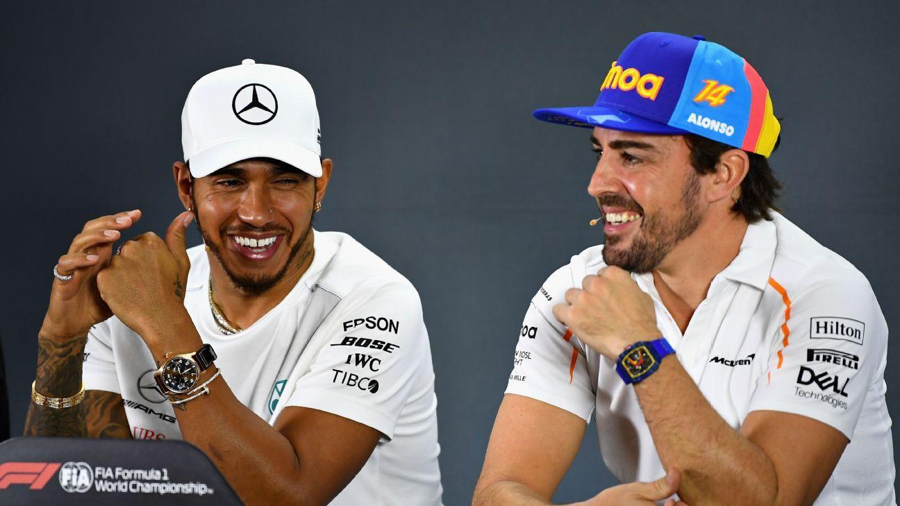 Hamilton jokes Alonso should take Gasly's seat