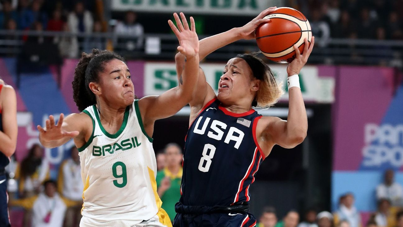 U.S. women fall to Brazil in Pan Am hoops finale