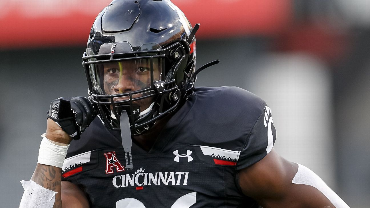 Bearcats' McDonald collapses on field, carted off
