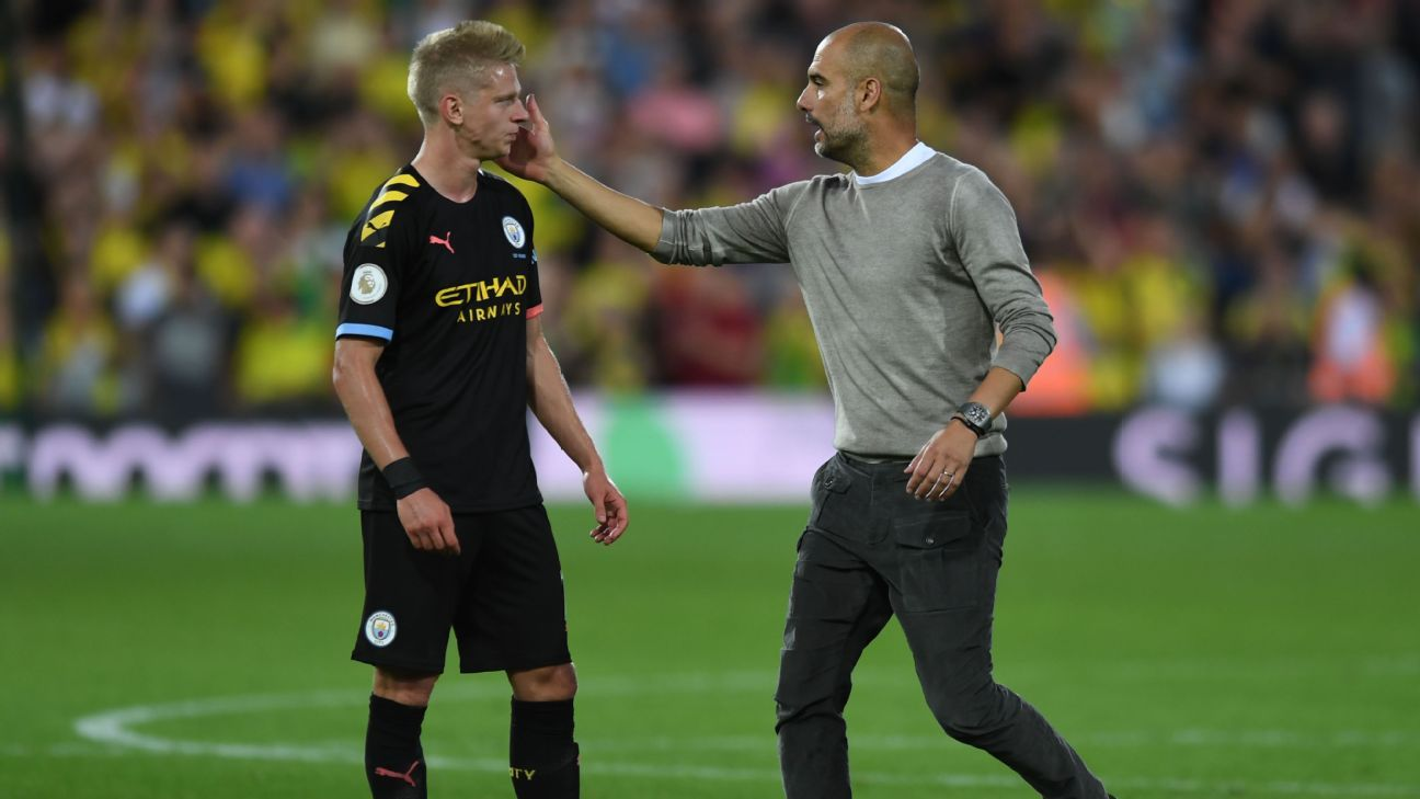 Zinchenko, entire Man City back four look uncomfortable in damaging defeat at Norwich