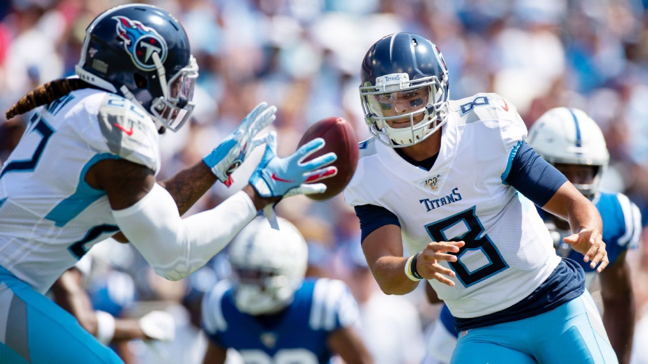 Marcus Mariota feels the heat and Titans offense comes up short