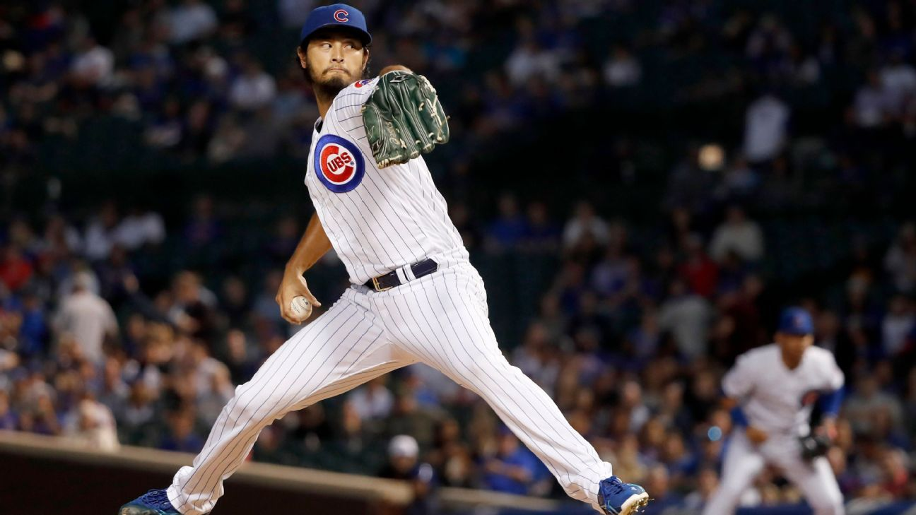 Darvish K's 8 straight for Cubs' single-game mark