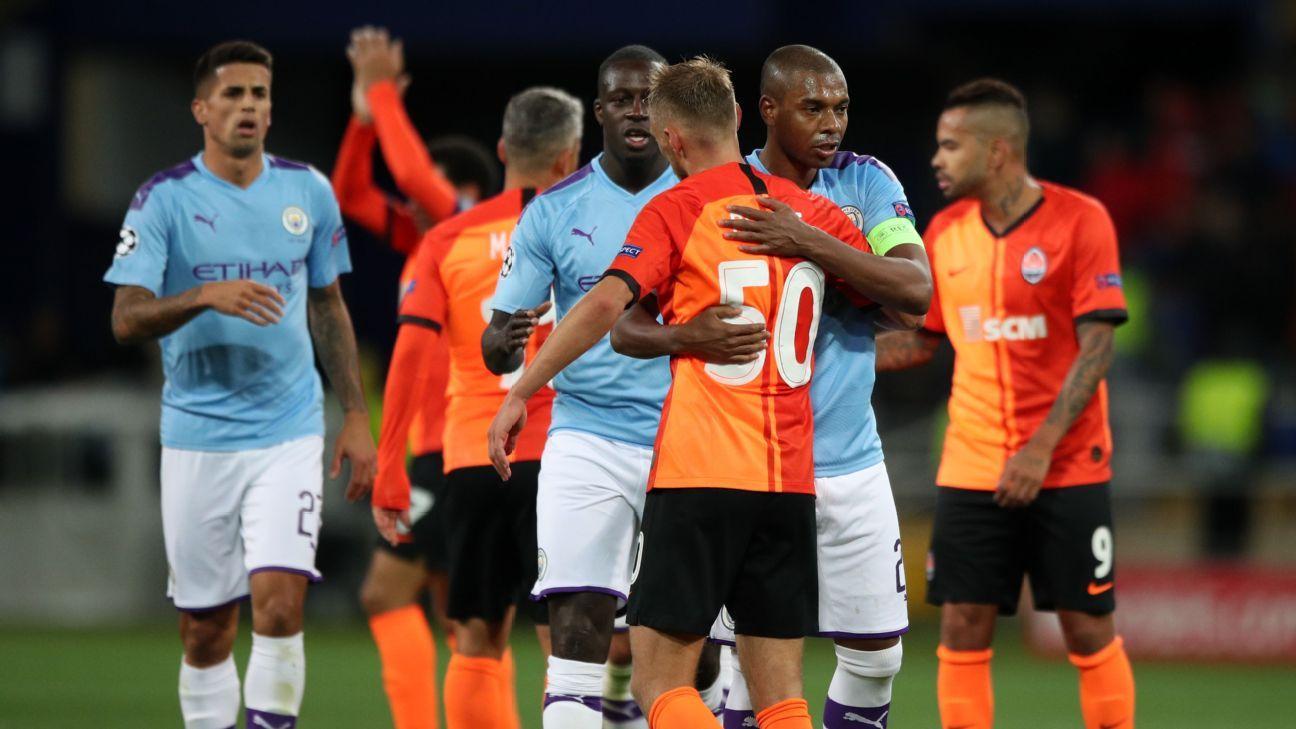 Fernandinho puts Man City's defensive worries to rest in return to Shakhtar