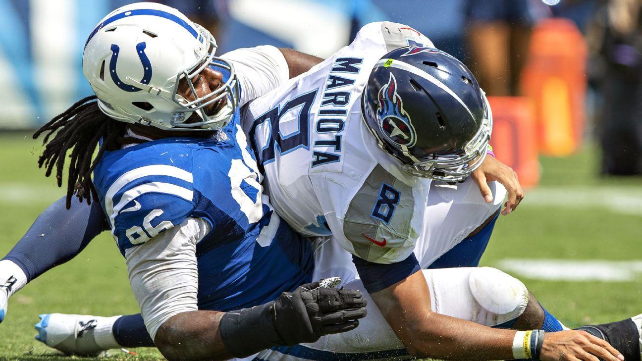 Who's to blame for NFL-high 17 sacks on Titans' Marcus Mariota?