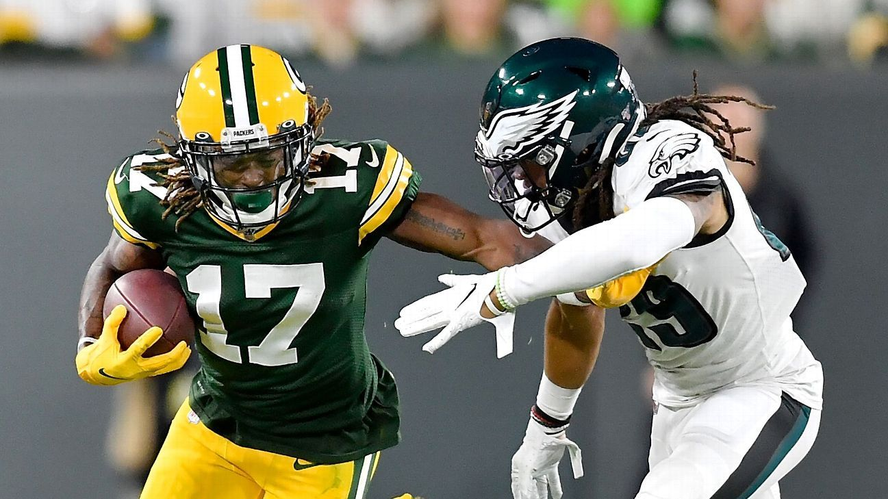 Packers WR Adams (toe) ruled out vs. Cowboys