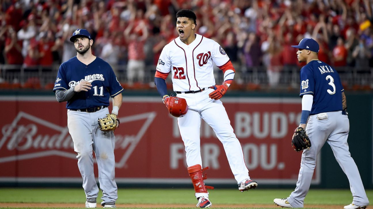 Nationals ride wild eighth to beat Brewers, move on to face Dodgers