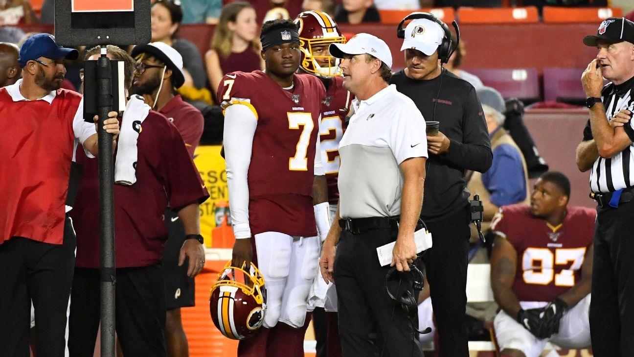 Redskins to start Colt McCoy at QB over Dwayne Haskins, Case Keenum