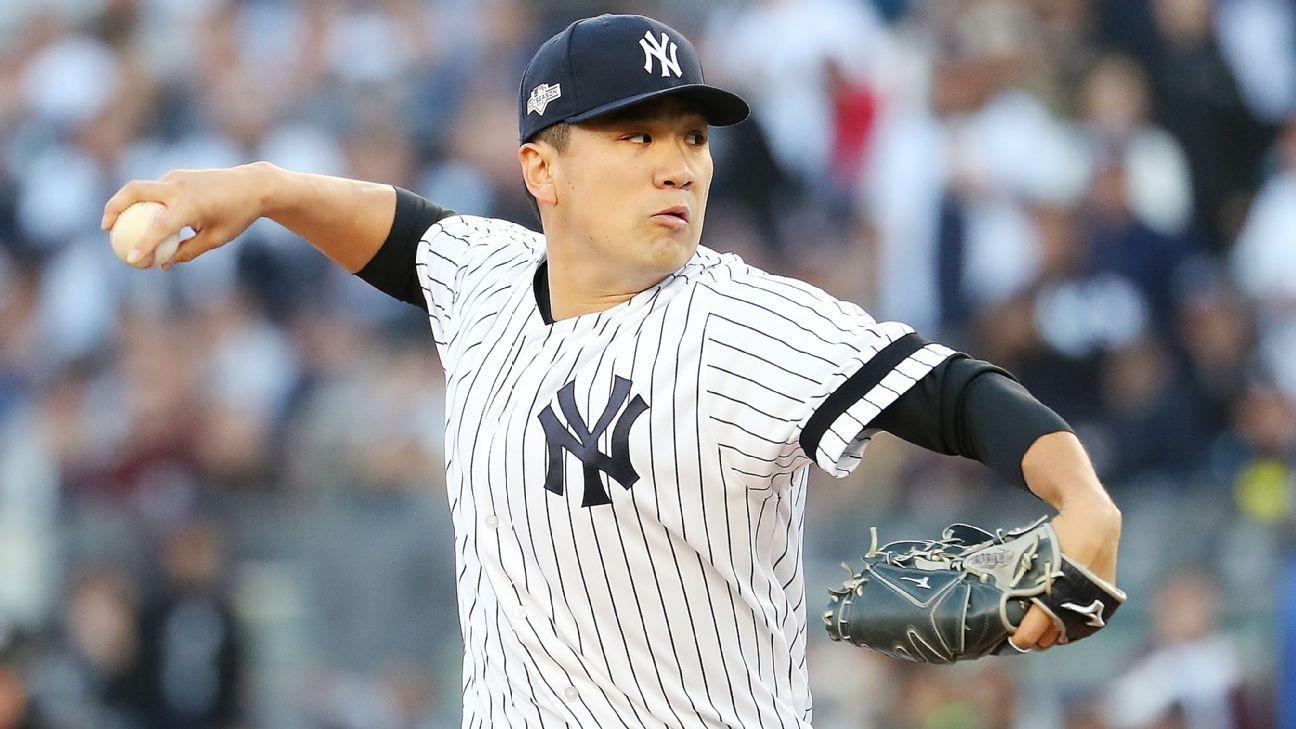 Yankees' Masahiro Tanaka struck in head by line drive during training camp – ESPN