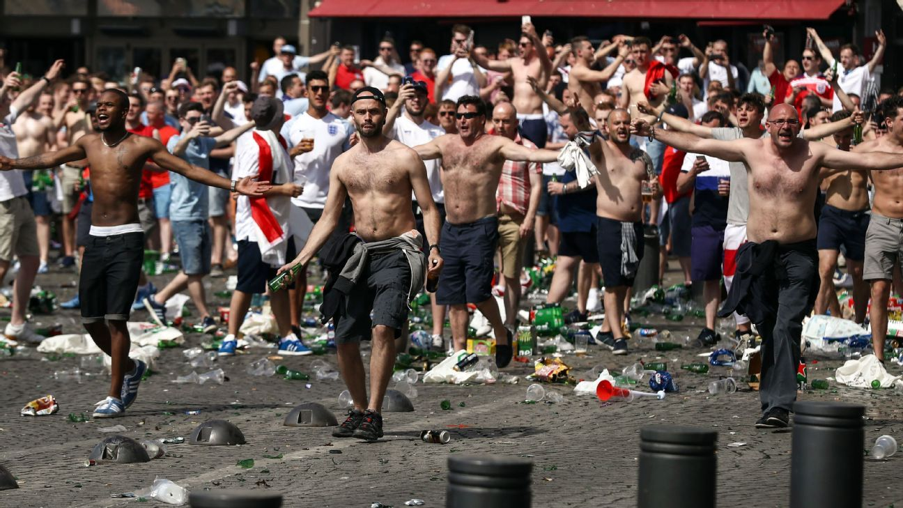 What's the trouble with England's travelling football fans?
