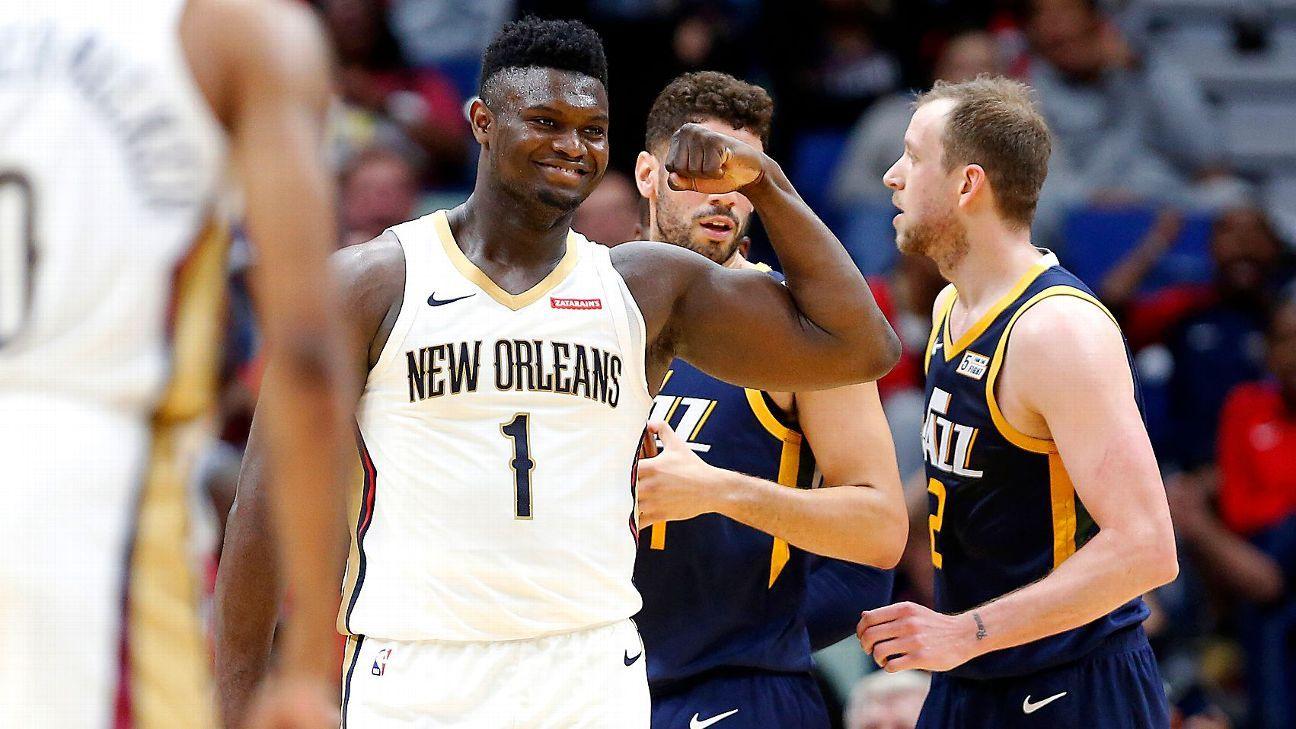 Zion Williamson scores game-high 26, battles Rudy Gobert in Pelicans' win