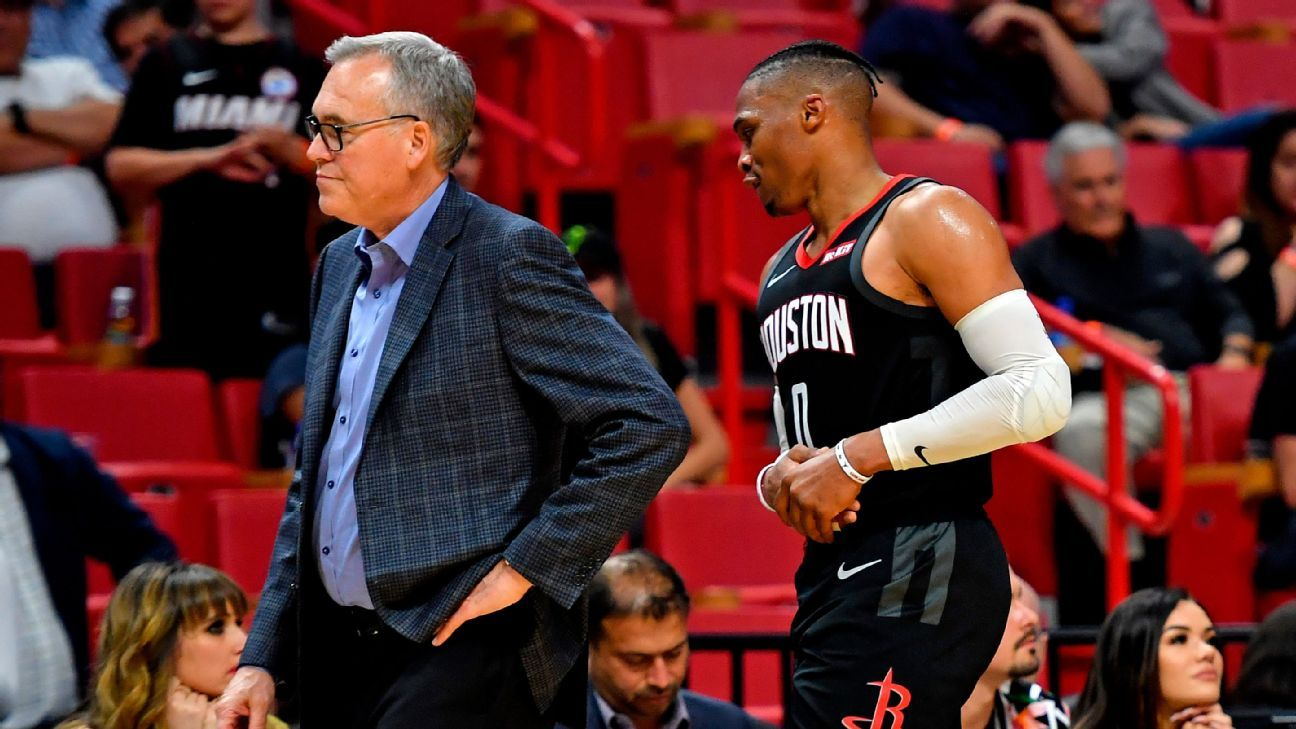 Rockets' Russell Westbrook aggravates finger injury vs. Heat
