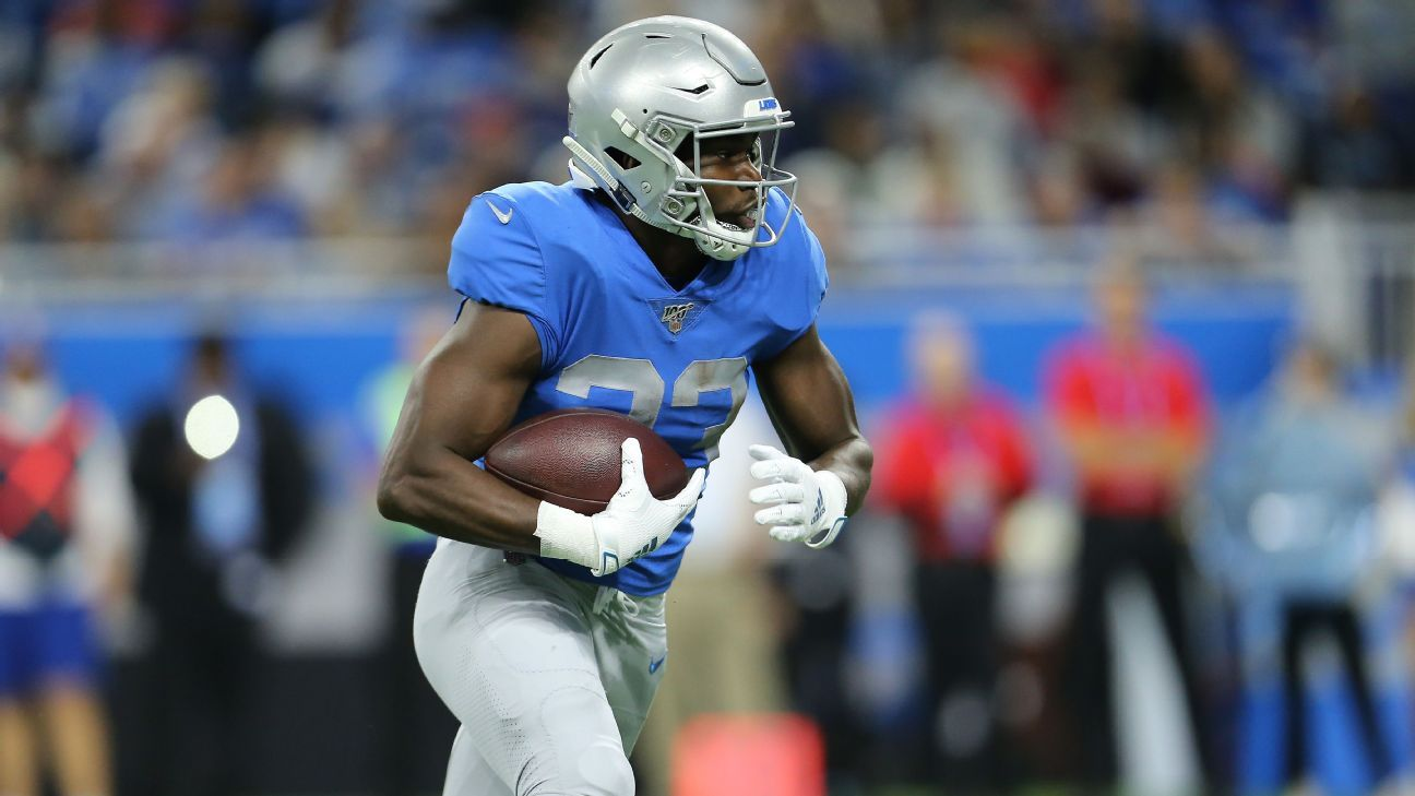 Lions RB Kerryon Johnson has knee surgery, goes on injured reserve