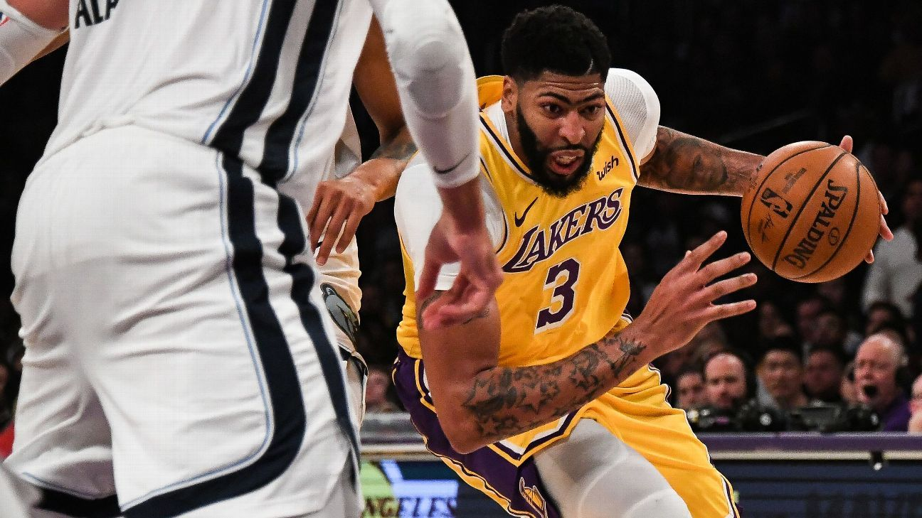 Lakers Anthony Davis Posts 40 Points 20 Rebounds In Win