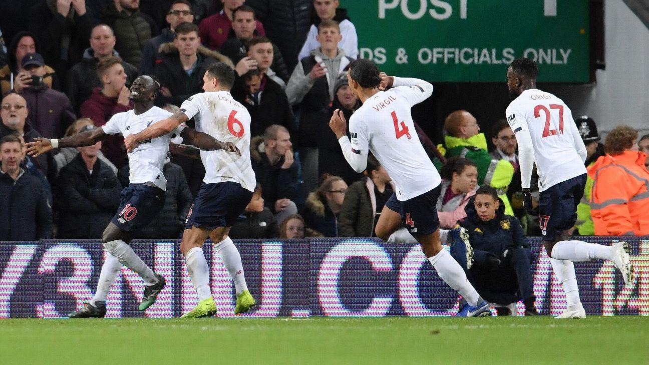 Aston Villa Vs Liverpool Football Match Summary November 2 2019 Espn