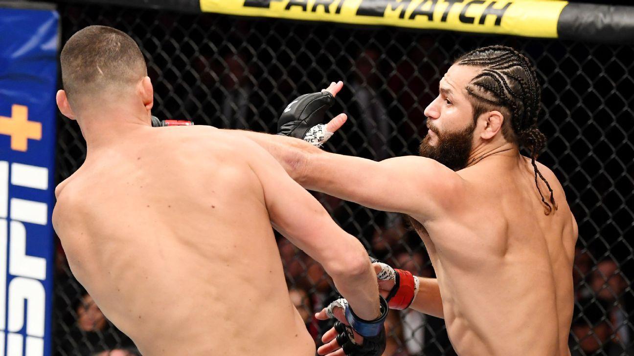 Masvidal dominates; fight called due to Diaz cut