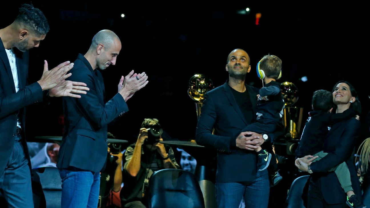 'Merci, Tony': Spurs retire Parker's No. 9 jersey