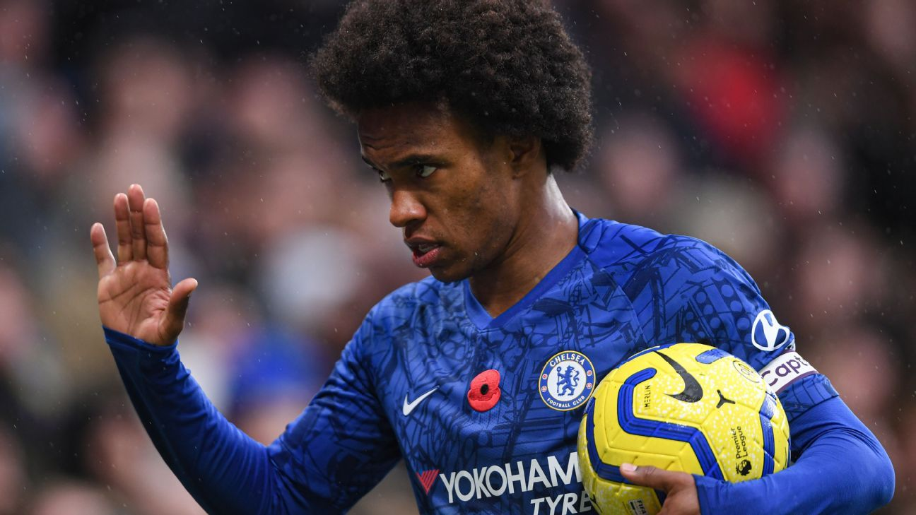 Willian prefers Chelsea stay to Barcelona move - sources - ESPN