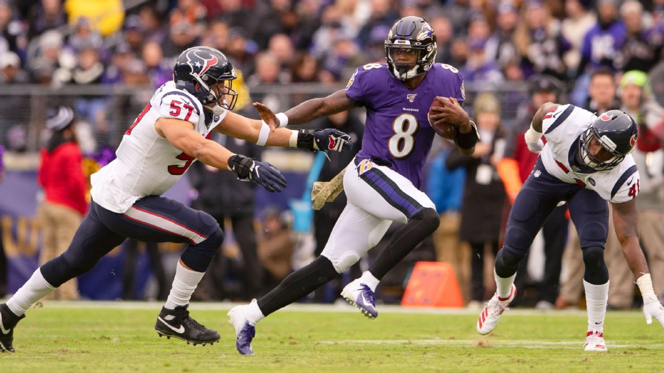 Lamar Jackson first Raven with multiple 4-TD games