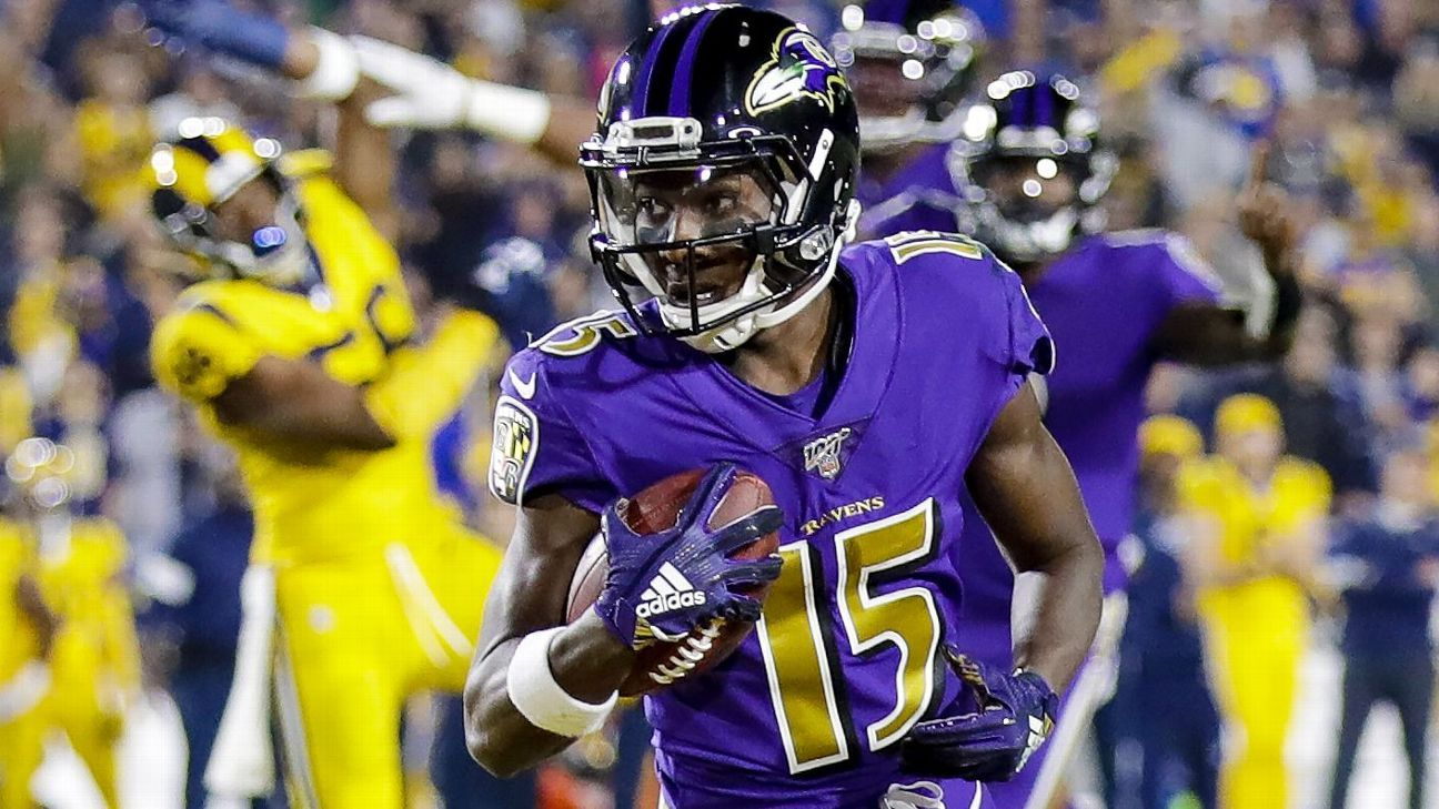 Ravens see 'dangerous' Year 2 for Hollywood Brown
