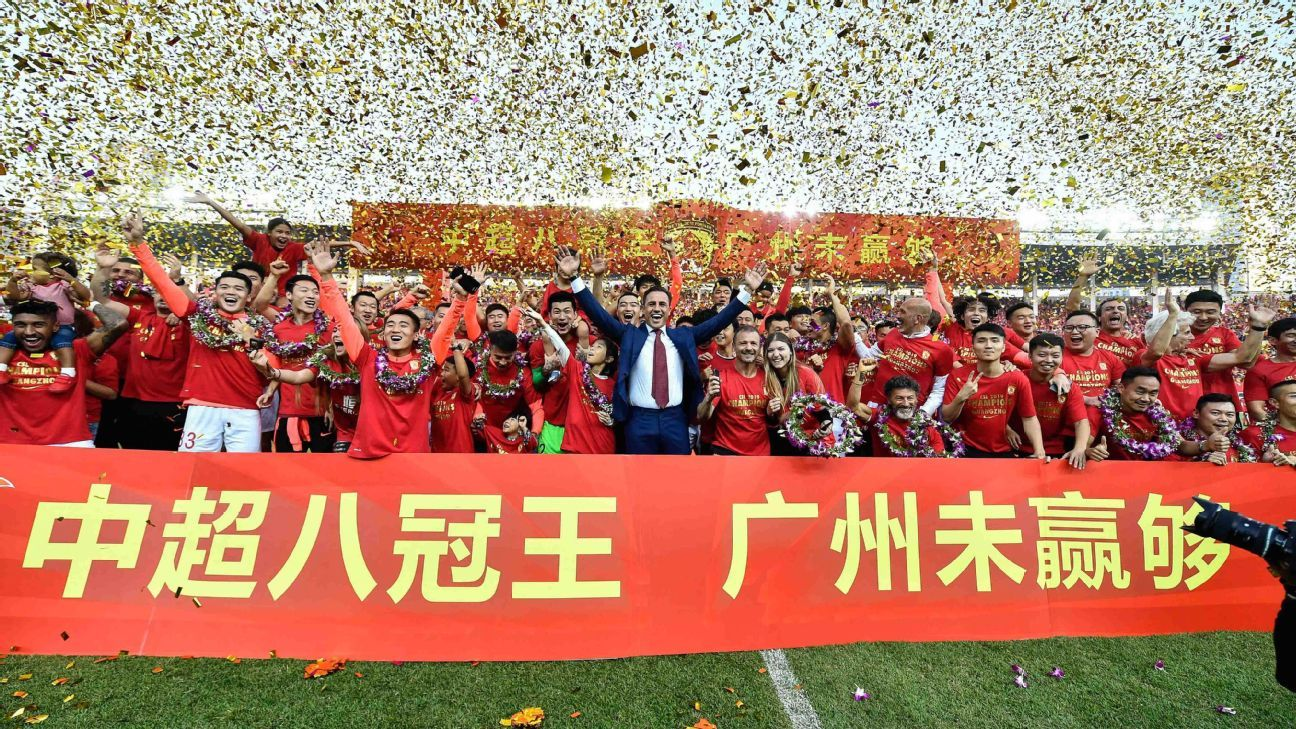 Guangzhou reclaim Chinese Super League title with victory over Shanghai Shenhua