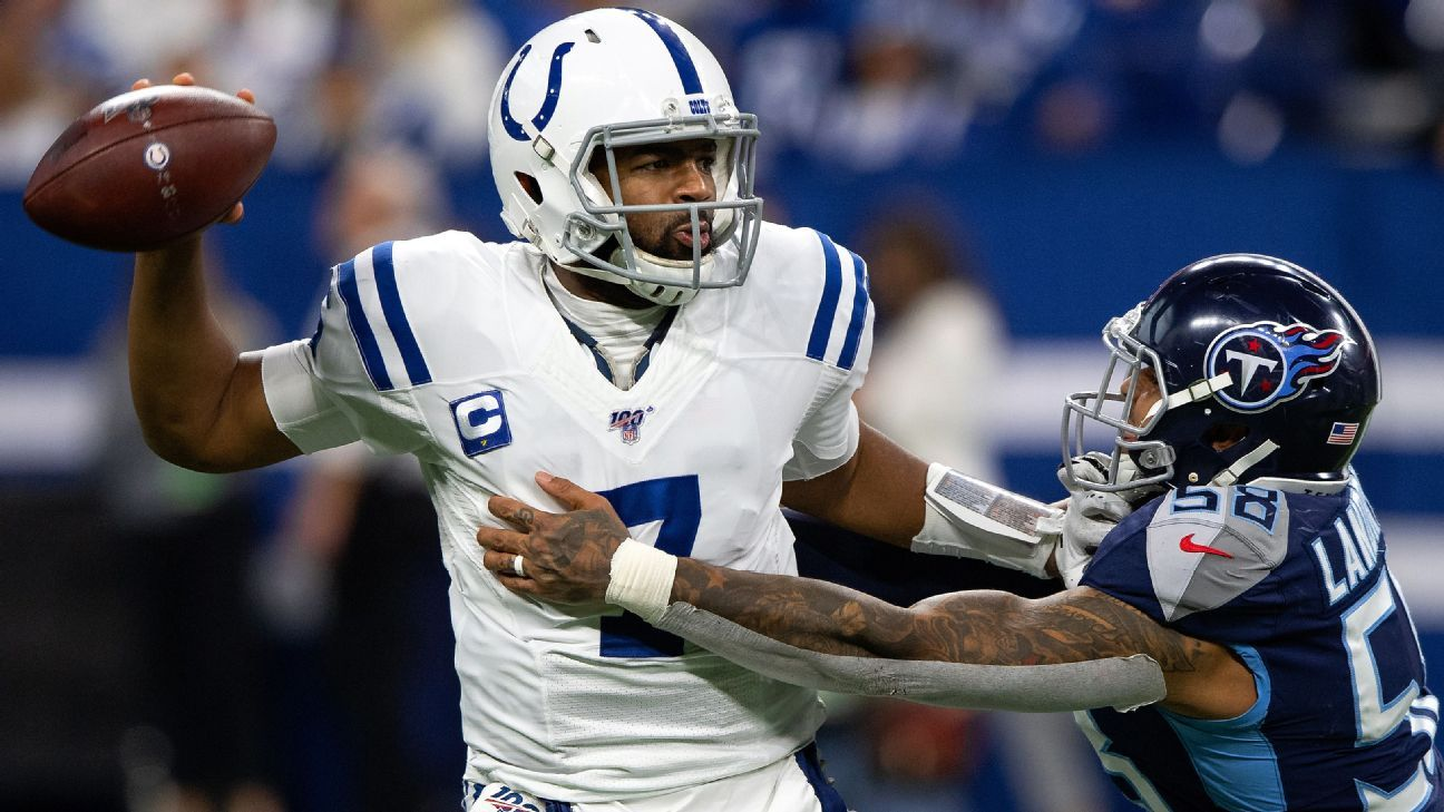 Jacoby Brissett hasn't been able to overcome Colts' injury dilemma